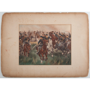 W.T. Trego, 5th US Cavalry Charge at Gaines Mills, Virginia, 1862,1893