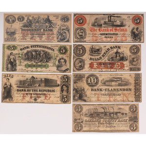 United States Bank Notes Assortment, Lot of Fourteen