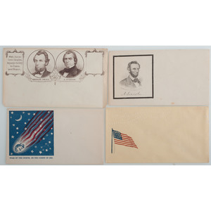 Group of Five Abraham Lincoln Patriotic Covers, Including Campaigns, Star of the North, and More