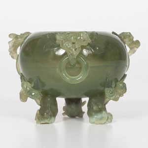 Serpentine Jade Censer Bowl