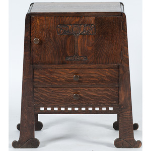 Arts and Crafts Work Cabinet Attributed to Limbert Co.