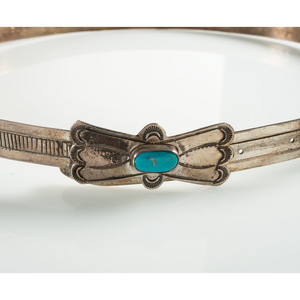 Navajo Silver and Turquoise Hat Bands