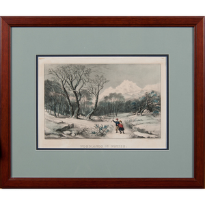 Currier & Ives Winter Scene Lithographs, Lot of Four
