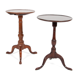 Queen Anne Dish Top Candle Stands