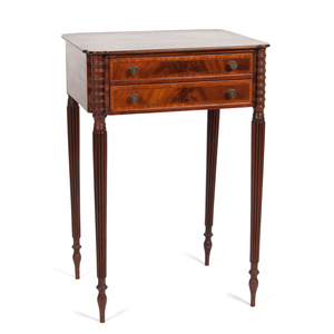Sheraton Two-Drawer Stand in Mahogany