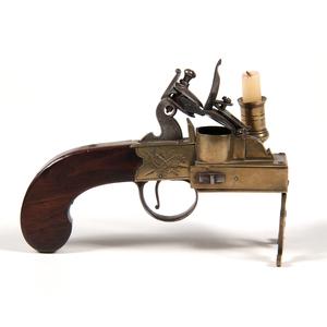 Engraved Brass Flintlock Tinder Lighter