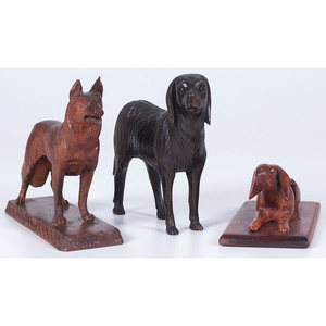 Black Forest-style Dog Figures