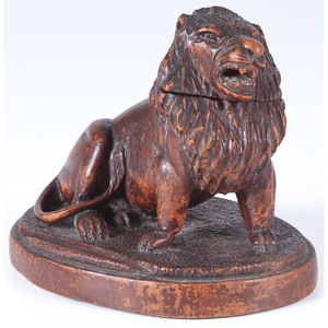 Black Forest-style Lion Inkwell