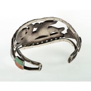 Zuni Chanel Inlaid Rainbow Man Cuff Bracelet