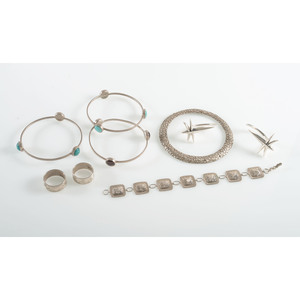 Southwest Bangles, Rings, Bracelet, and Heavy Gauge Earrings
