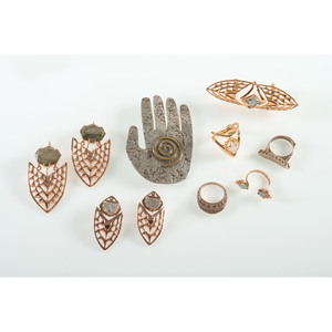 Kristen Dorsey Designs: Pin, Rings, and Earrings with Diamonds