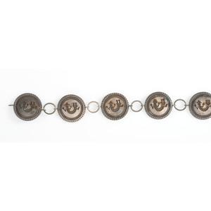 Silver Overlay Link Concha Belt