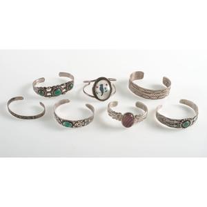 Southwestern Silver and Marcasite Bracelets, PLUS