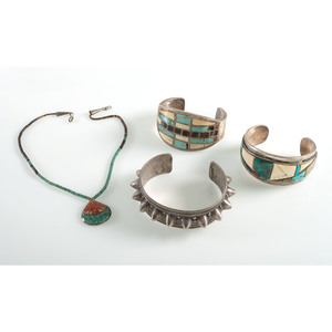 Southwestern Style Cuff Bracelets and Necklace