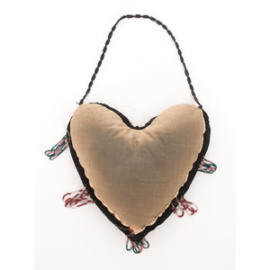 Haudenosaunee Heart-Shaped Beaded Pictorial Whimsy