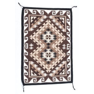 Navajo Two Grey Hills Weaving / Rug