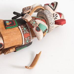Jefferson James, Nuva Hongnaya (Hopi, 20th century) and Bennett Sockyma (Hopi, b. 1956) Katsinas