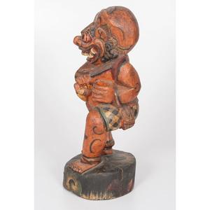 Carved Indonesian Kris Holder