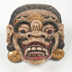 Lot of Five Barong Ritual Masks