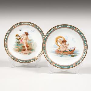 Pair Minton Cabinet Plates