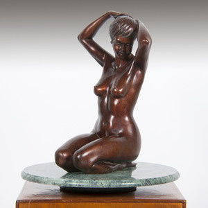 Jean-Luc Brandily (French, 20th Century) Bronze with Pedestal