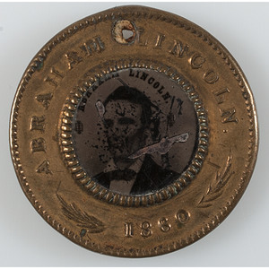 Lincoln and Hamlin 1860 Campaign Ferrotype