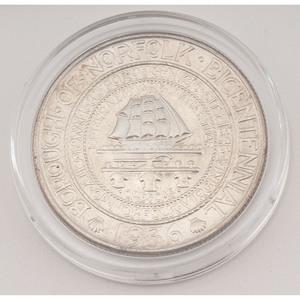 United States Norfolk, VA Bicentennial Commemorative Half Dollar 1936