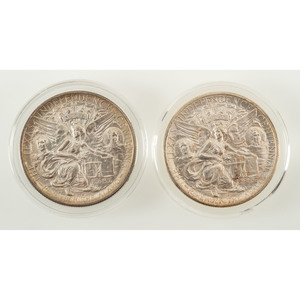 United States Texas Independence Centennial Commemorative Half Dollars 1937, Lot of Two