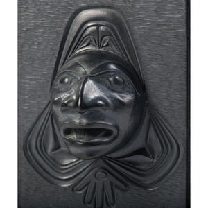 Alfie Collinson (Haida, b. 1951) Argillite Lidded Box, Transformation