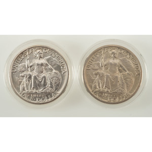 United States California Pacific International Exposition Commemorative Half Dollars 1935-S, Lot of Two