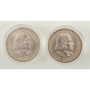 United States World's Columbian Exposition Half Dollar Commemorative Coins 1892-1893, Lot of Two