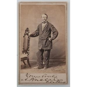 Rare Signed CDV of Confederate States Navy Captain Arthur Sinclair III