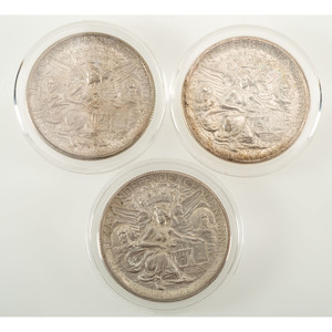 United States Texas Independence Centennial Commemorative Half Dollars 1935-1936, Lot of Three