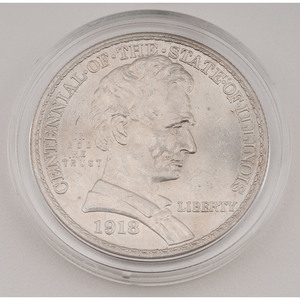United States Illinois Centennial Commemorative Half Dollar 1918