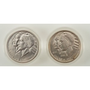 United States Arkansas Centennial Commemorative Half Dollars 1936, Lot of Two