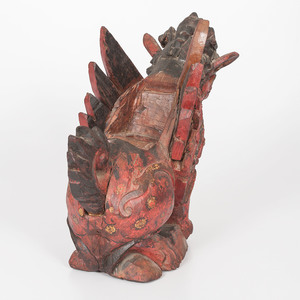 Indonesian Carved Winged Singha