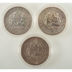 United States Providence, Rhode Island, Tercentenary Commemorative Half Dollars 1936, Lot of Three