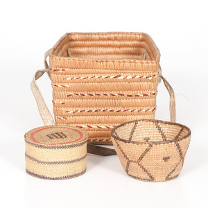 Salish, Makah, and Akimel O'odham [Pima] Baskets, Deaccessioned from the Cass County Historical Society, Minnesota
