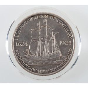 United States Huguenot-Walloon Tercentenary Commemorative Half Dollar 1924