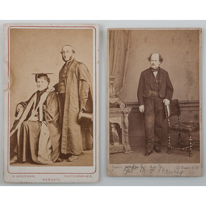 CDVs of United States Navy and Confederate Navy Commander Matthew Fontaine Maury,