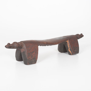 African Carved Headrest