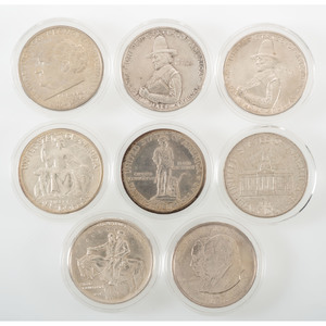 United States Assorted Commemorative Half Dollars 1920-1946, Lot of Eight
