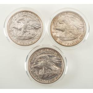 United States Alabama Centennial Commemorative Half Dollars 1921, Lot of Three