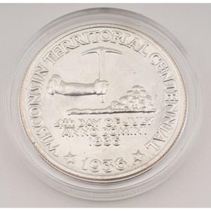 United States Wisconsin Territorial Centennial Commemorative Half Dollar 1936