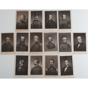 Civil War CDV Album Containing Lithographs by Elias Dexter