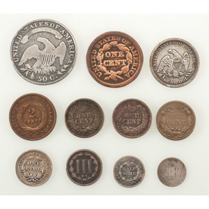 Assorted United States Coins, Lot of Eleven