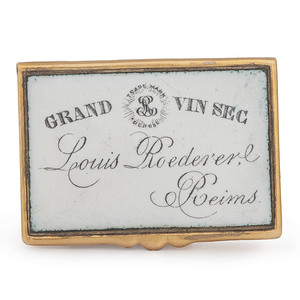 Grand Vin Sec Gold Over Brass Match Safe