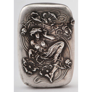 Kerr Sterling Art Nouveau Match Safe
