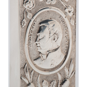 Coin Silver Match Safe Featuring Portrait of Zachary Taylor and Famous Phrase,