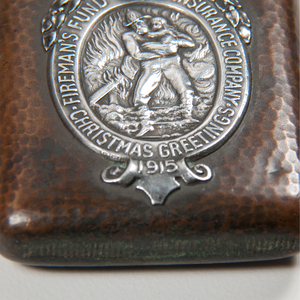 Shreve & Co. Sterling and Bronze Fireman's Fund Insurance Co. Match Safe